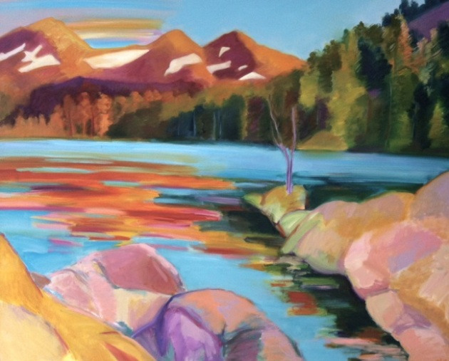 "Marsha-Connell-Alpenglow, 43x52"", oil on canvas, 2004, coll Mark Gunther, Anne Krantz"