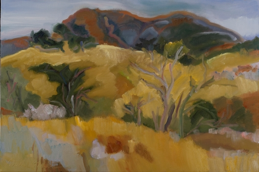 "Marsha Connell-August Afternoon, Mt. St. Helena-oil-24x36"" 2009"