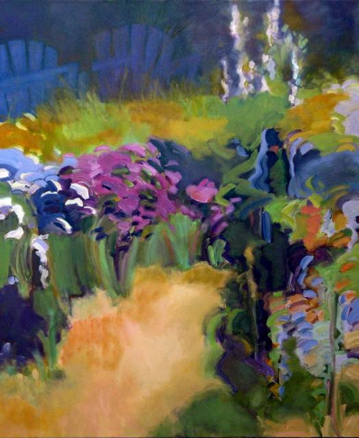 "Marsha-Connell-Mother Garden 3-oil- 43x36"" 2005"