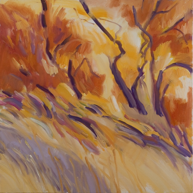 "Marsha Connell-The Warmth of Autumn, o/c, 24 x 24"", 2010"