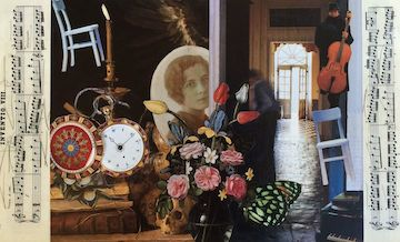 """Marsha_Connell_The Lady in Number 6: Music Saved My Life_collage_11"""" x 17"""""""