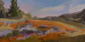 "8-Marsha Connell-Poppy Fields at Pepperwood-oil- 15x30""-2008"