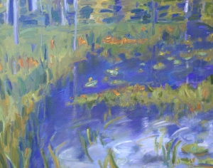 Marsha Connell_Rainy River_oil on canvas_12 x 16