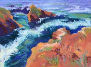 Headlands West, 3, 12 x 16, pastel