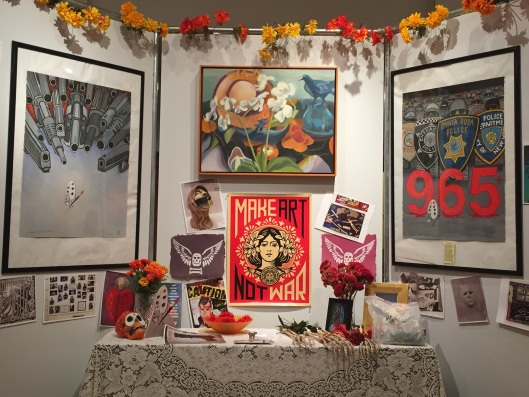 Marsha Connell's Murder of Crows Painting in Peter Perez's altar for Day of the Dead, Sonoma county History Museum, 2016.jpg